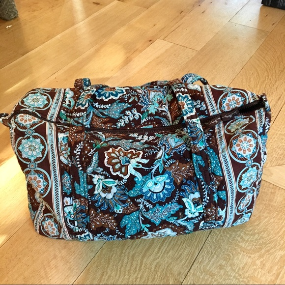 263176761 Vera Bradley Brown And Blue Duffle Bag. M_5b36ab28c9bf50412025edb2
